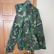 Us Army Woodland Bdu Cold Weather Parka Gore-tex Jacket X-large Regular