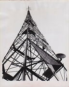 Milan Italy Television Transmission Tower Vintage 1952 Iconic Rare Photo