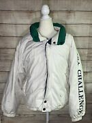 Nautica Challenge Thick Puffer Duck Down Sailing Jacket Vintage J-class Mens S
