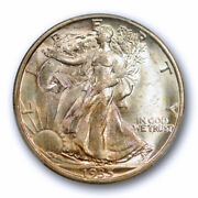 1935 S 50c Walking Liberty Half Dollar Pcgs Ms 64 Uncirculated Cac Approved T...