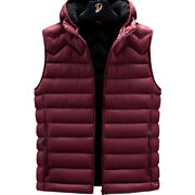 Menand039s Autumn And Winter Vests Fashion Down Cotton Vest Wild Thick Hooded