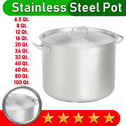 | Stainless Steel Stock Pot | Many Sizes | With Aluminum-clad Bottom And Cover |