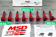 Msd Ignition Coils Blaster Series Red 8-pack Fits Toyota Lexus 4.7l V8 1998-2010