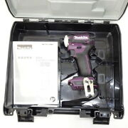 Makita Td172d Impact Driver Td172dzap Authentic Purple 18v Tool Only With Case