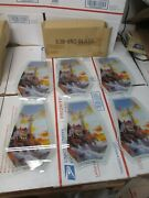 Ok Lighting Touch Lamp Replacement Glass Panels Set6 638-bn2 Lighthouse Scene
