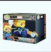 🛵🔥 Ghost Rider Black Light Marvel Funko Pop Super Deluxe Sold Out 🔥🛵‼️