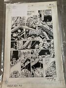 Original Comic Book Art Splash Page Dc Omega Man Issue 13 Page 17 Signed T Smith