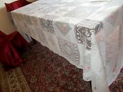 Madeira Lace Floral Embroidered Checker Bloack Collectible Tablecloths
