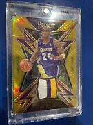 2017-18 Kobe Bryant Panini Select Sparks Relics Game Worn 3 Color Gold /10