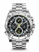 Bulova Precisionist Chronograph Mens Watch, Stainless Steel , Silver-tone Model