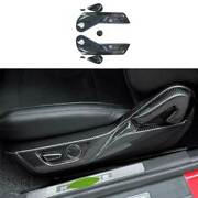 Dry Carbon Fiber Seat Adjust Handle Button Panel Trim For Ford Mustang 2015-2021