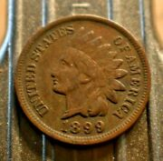 1899 Indian Head Penny 1c With Full Liberty. 8284