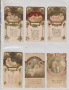 Lot Six 6 Santini-religious- Holy Cards -period -18/19 -1