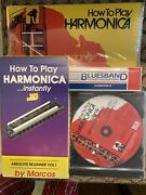 How To Play Harmonica Instantly By Marcos With Book, Vhs, Cd And Harmonica -sealed