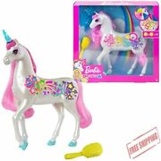Barbie Dreamtopia Brush And039n Sparkle Unicorn - Lights And Sounds 3 To 7 Year Olds