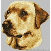 Embroidered Short-sleeved T-shirt - Yellow Labrador Retriever Dle3717