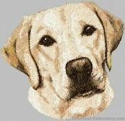 Embroidered Short-sleeved T-shirt - Yellow Labrador Retriever Dle3719