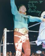 Wwe Billy Graham Hand Signed Autographed 8x10 Photo With Psa Dna Coa Rare 3