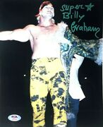 Wwe Billy Graham Hand Signed Autographed 8x10 Photo With Psa Dna Coa Rare 7