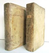 1601 Netherlands History By Le Petit Illustrated 2 Volumes Antique Vellum Folios