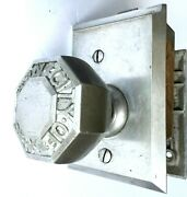 Rare Set Of Vintage City Of New York Heavy Duty Sargent Nickel Plated Door Knobs