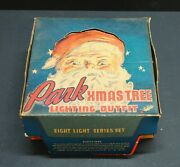 Vintage 1948 Park Christmas Trees Lighting Outfit Eight Light Series