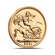 2021 British Half Sovereign Lilibets Obv George And The Dragon Reverse Gold