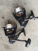 Lot Of 2 Tusnami Citadel 5000 Spinning Reels Saltwater Ready Match W/ Rods