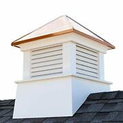 Manchester Vinyl Cupola Perfect Size For A 3 Car Garage Or Larger House Pure ...