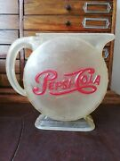 Vintage Mexican Pepsi Cola Plastic Jar Advertising Promo From 60's Rare