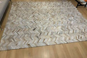 Restoration Hardware Velandaacute Luxe Cowhide Area Rug Chevron 8and039x10and039 4000 Leather Rh