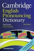 Cambridge English Pronouncing Dictionary By Jones Roach Setter Esling New