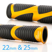 Wave Hand Grips Black Rubber +gold Metal Trim 7/8 X1pc +1 X1pc Scooter
