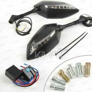 Kiwav Mirror Lucifer Dual Led + Oi Flasher Rate Control Relay For Suzuki Scooter