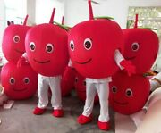 Red Apple Mascot Costume Suit Cosplay Party Game Dress Outfit Halloween Adult