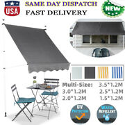 Retractable Deck Patio Awning Canopy Shelter Cafe Backyard Outdoor Sunshade