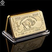 Gold Plated Bullion Beauty Bar United States Of America 1 Troy Ounce Gold Clad