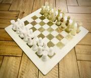 Vintage Handmade Marble Chess Board 15 Adult Chess Game Green Onyx Chess Set