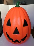 """Vintage Empire Halloween Jack-o-lantern Blow Mold 31"""" With Cord And Bulb"""