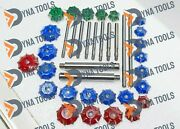 3 Angles Carbide Tipped Valve Seat Cutter Set For Big Block Diesel Petrol Engine
