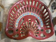 Adriance Buckeye Vintage Cast Iron Tractor Implement Seat Collectibles