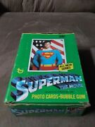 1978 Topps Superman The Movie Trading Cards Full Wax Box 36 Packs In Box