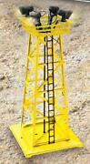 Lionel Accessory - 14155- 395 Metal Floodlight Tower  - 0/027- New- Sh