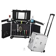 Clipper Trimmer Portable Mobile Barber Station Tool Box Rolling Makeup Hair