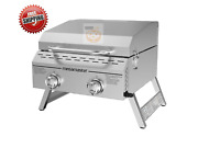 2 Burner Portable Stainless Steel Bbq Tabletop Propane Gas Grill Outdoor