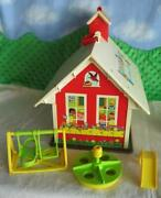 100 Minty Base Vintage Fisher Price Little People Play Family School 923 People