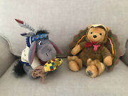 Winnie The Pooh Disney 2003 Turkey And Eeyore As Indian Beanie Plushes Lot