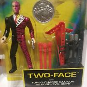 Vintage Batman Forever Two Face 1995 With Turbo Charge Cannon And Good/evil Coin