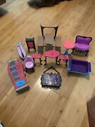 Monster High School Playset Accessories + Furniture Mixed Lot Of Pieces