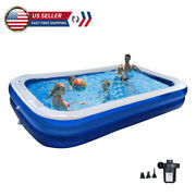 Inflatable Swimming Pools Above Ground Pool With Air Pump Kids Family Outdoor